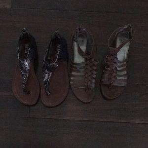 Shoes - MIA SANDALS/ ELLE WEDGE SANDALS (2 pair)